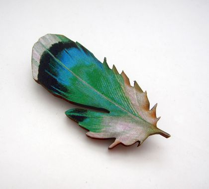 sale - Feather brooch