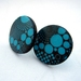 Turquoise retro dot stud earrings