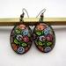 Polish folk art earrings