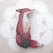 sale - Shy fox brooch