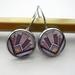 Art deco glass dome earrings