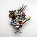 Alice in wonderland brooch - the white rabbit