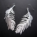 sale - Large and light feather earrings