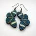 Blue spotted butterfly earrings