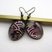 Washi paper earrings - florals in shades of purple
