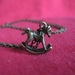 sale - rocking horse necklace