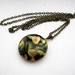 Feathery leaves - locket necklace