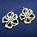 Glossy gold cherry blossom earrings