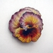 Pansy brooch - yellow and purple
