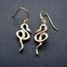 Glossy gold snake earrings