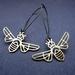 brass bee earrings