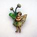 Flower fairy brooch - clover