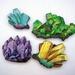 Crystals - woodcut magnet set