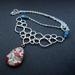 floral teardrop glass dome statement bib style necklace