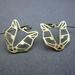 Geo leopard head outline earrings