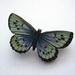 sale - pale blue butterfly brooch