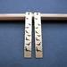 sale - flock - etched brass bar earrings