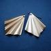 Art deco style brass earrings