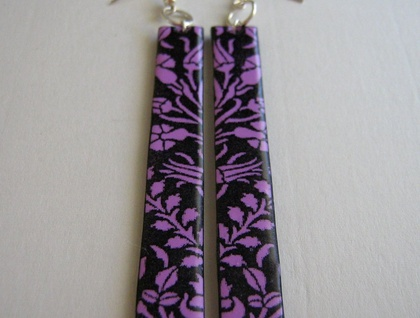 lilac wild garden earrings, extra long.