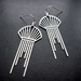 Stainless steel art deco style earrings