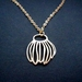 Gold seedpod necklace