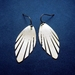 Brass abstract leaf earrings
