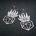 Stainless steel potted plant earrings