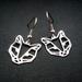 Geo leopard head outline earrings in stainless steel