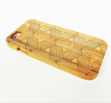 WOODEN PHONE CASE iPhone 6 or 6s etched