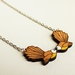 WOODEN PENDANT NECKLACE Fantails made from Matai timber