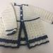 100% Merino Baby Wool Crocheted Matinee Jacket