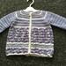 100% Merino Crocheted Matinee Jacket