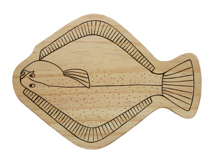 Handcrafted Wooden Board - Flounder - Fish Design