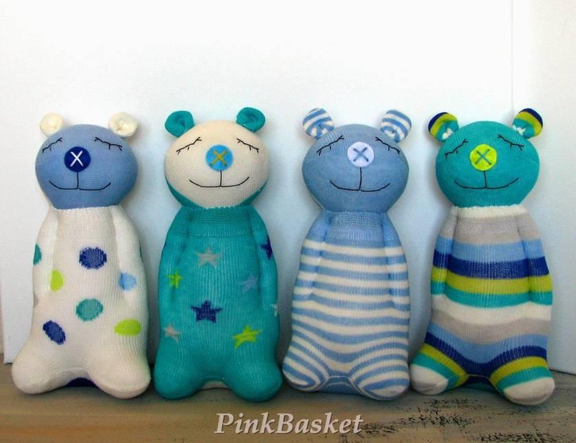 Sleeping buddy Aquamarine Teddy bear, soft toys