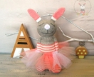 Sleeping buddy Bunny Ballerina gift for girls