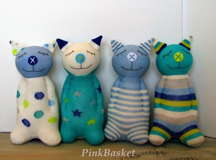 Sleeping buddy Aquamarine Kitten, baby toys