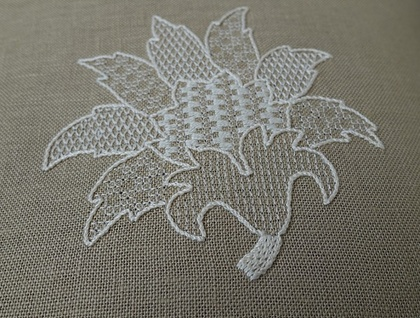 Fallen Leaf (Whitework Embroidery)