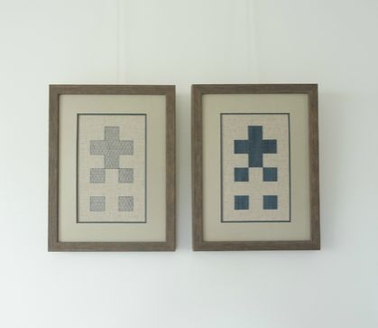 Plus + Opposite I (Cross-stitch & Blackwork)