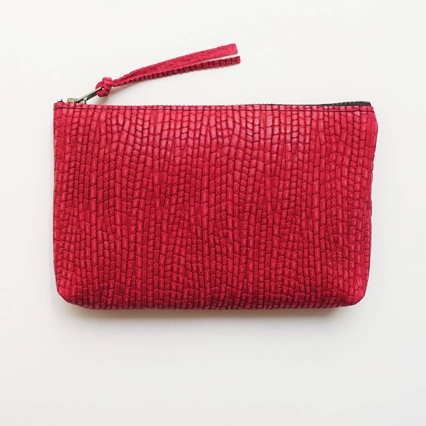 Textured Leather Purse (Midi)