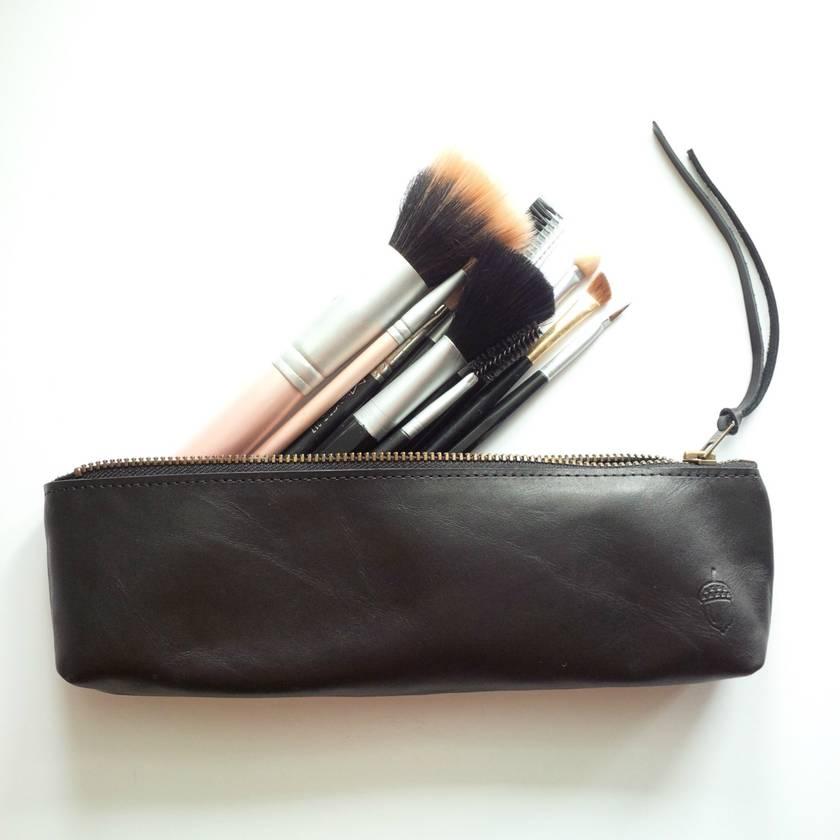 Leather Pencil Case (Make-Up Brush Case)