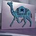 Indian camel Block printed fabric card