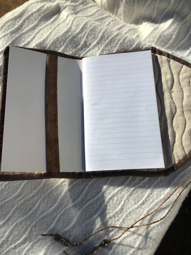 Quilted journal cover.