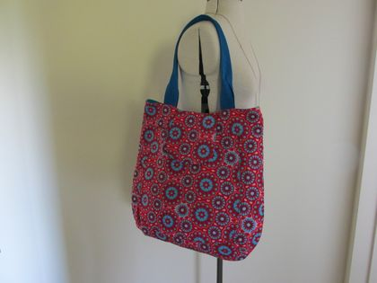 The Big Tote in red & aqua