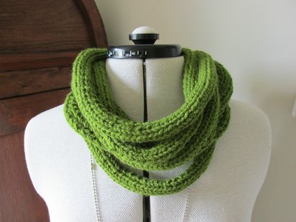 Loop the Loop cowl in moss