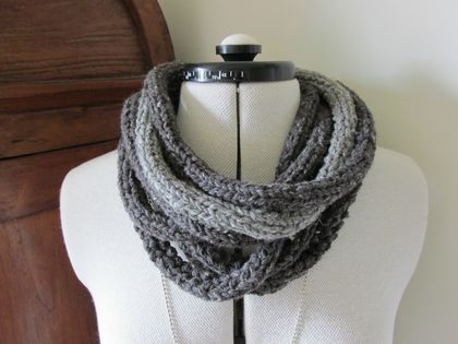 Loop the Loop cowl in charcoal