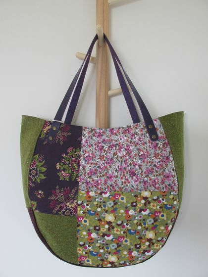 Pieced Tote in purple