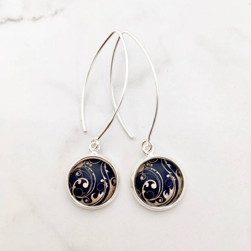 Oceania Sterling Silver Hook Earrings