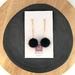 Black Pompom Earrings