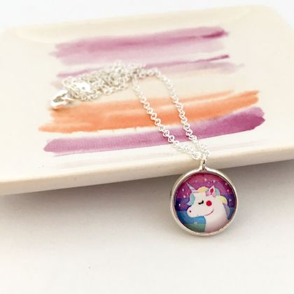 Girls Unicorn Necklace
