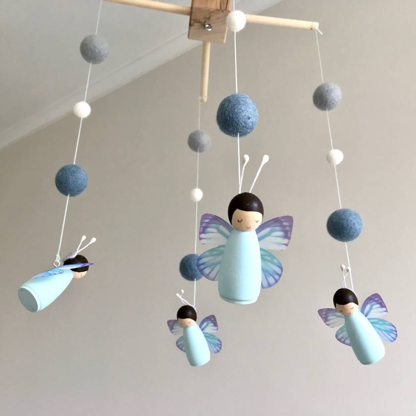 Butterfly Peg Doll Mobile